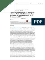 DJSP 31_03_2016 - Pg. 2018 - Judicial - 1ª instância - interior - parte ii _ Diário de Justiça do Estado de São Paulo _ Diários Jusbrasil