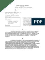 SEC Order Against Wells Fargo Securities
