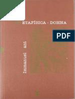 (Hermeneia 73) Emmanuel Kant - Metafísica-Sígueme (2007)
