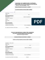 ficha_de_inscripcion X CONGRESO Y VIII CURSO INTERNACIONAL DE ALIMENTACIÓN Y NUTRICIÓN