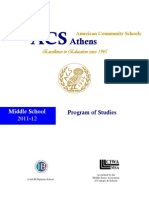 Program of Studies 2011 12