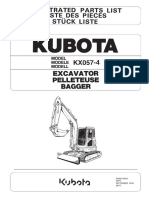 Parts List Catalog Kubota KX057!4!978P910920 en+de+FR