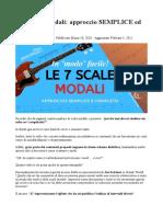 Le 7 Scale Modali approccio SEMPLICE ed EFFICACE