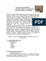 ESCRITORIO JURIDICO PRESENTACIÓN