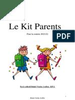 LE KIT DES PARENTS pour la rentree scolaire 2021-2022 (#COVID19)