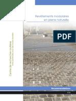 Ouvrage Pavé Belge - Revetements Modulaires en Pierre Naturelle