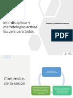 3. La perspectiva interdisciplinar y las metodologias activas