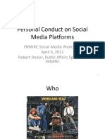 Personal Conduct on Social Media Platforms