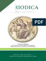 200a) L'uso illegittimo del processus brevior. in Periodica 1-2. 2019