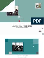 Manual para Personeros - Elecciones Generales 2011