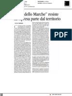 Il Modello Marche resiste. La ripresa parte dal territorio - Avvenire del 7 settembre 2021