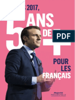 """Cinq ans de plus"", tract d'Emmanuel Macron"