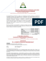 Programa del X CONGRESO NACIONAL Y VIII CURSO INTERNACIONAL DE ALIMENTACIÓN Y NUTRICIÓNAnuncio y Programa 4 Abril