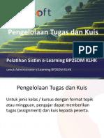 Pelatihan e-Learning KLHK untuk Admin - Pengelolaan Quiz dan Tugas