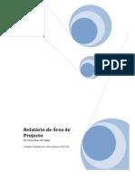 Relatorio de Area de Projecto - Pedro