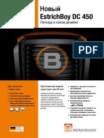 Brinkmann Estrich Boy DC450 Ulotka Informacyjna RU