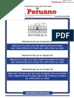 Ley de Presupuesto del Sector Público para el Año Fiscal 2022