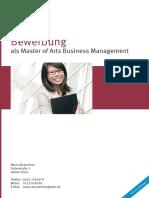 Beispiel 3 Musterlebenslauf Master of Art Business Management