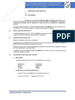 01. MEMORIA DESCRIPTIVA ARQUITECTURA - EL MARCO