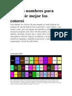 9.Nuevos nombres para describir mejor los colores