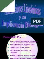 ALTERACIONES LISOSOMICAS Y SU IMPLICANCIA BIOLOGICA