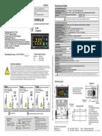 An Enda ET2411 230 08 Temperaturregler NTC 60 Bis 150C Relais 8A L x B x H 71 x 77 x 35mm (1)