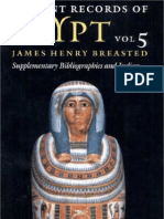 BREASTED, James H. - Ancient Records of Egypt - Vol. 5 - Supplementary Bibliographies and Indices