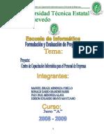 Proyecto Form. Eval. Proyecto