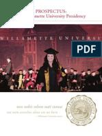 Willamette University Presidential Prospectus