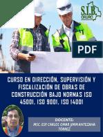 CURSO VIRTUAL DIRECCIÓN, SUPERVISIÓN Y FISCALIZACIÓN DE OBRAS DE CONSTRUCCIÓN NOVIEMBRE