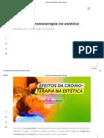 Efeitos da Cromoterapia na estética - Vale Laser
