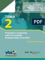 TEMA 2 -Preguntas y Respuestas Sobre Los Sentidos de La EPJA