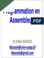 Programmation Assembleur 2019 Dr Didier BASSOLE