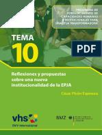 TEMA 10 - Reflexiones y Propuestas Sobre Una Nueva Institucionaldiad de La EPJA