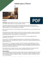 Sugestões de atividades para a Páscoa
