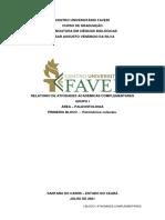 UNIFAVENI LIC EM CIÊNCIAS BIOLÓGICAS Relatório de Atividades Complementares 50 HORAS