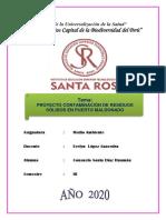 Proyecto Contaminación de Residuos Sólidos en Puerto Maldonado