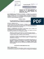 Proyecto de ley que garantiza la paridad en la conformación del Banco Central