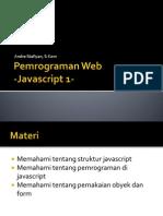 Pemrograman Web-Javascript