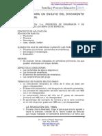 PROCESO PARA UN ENSAYO DEL DOCUMENTO RECEPCIONAL