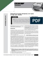 Informe especial tributario -  A-1 a A-4