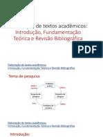 05 Elaboração de textos - Introdução, fundamentação teórica e revisão bibliográfica