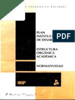 PID, estructura organico-academica y normatividad