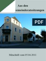 Eslarner Gemeinderatssitzung vom 05.04.2011
