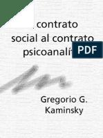 Gregorio Kaminsky - Del Contrato Social Al Contrato Psicoanalitico