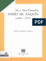 Filosofía y Teo-Filosofía NIMIO DE ANQUÍN(1896-1979) (José Ramón Pérez)