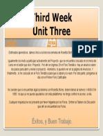 Third Week