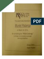 PRSSA Challenge Certificate of Participation