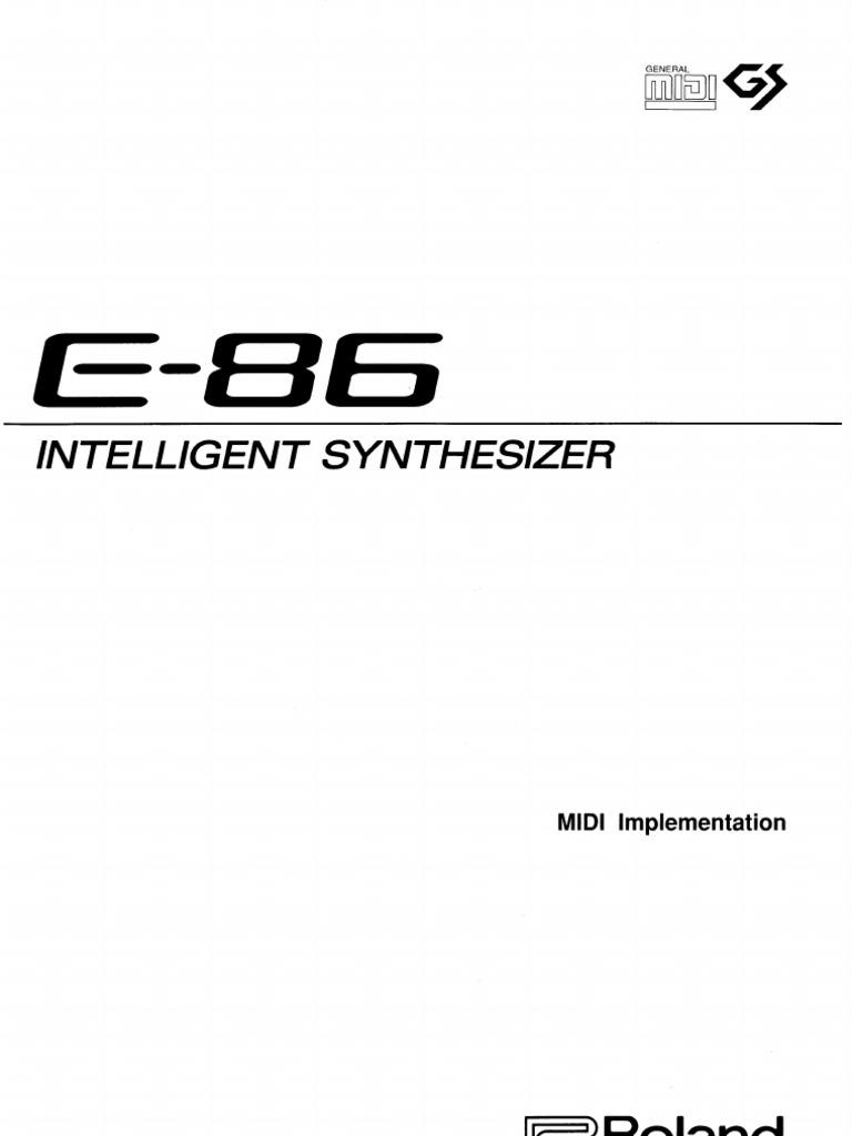 Manual MIDI do ROland E 86