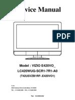 vizio vx37l hdtv service manual hdmi video rh scribd com Review Vizio VX37L Wall Mount Vizio VX37L